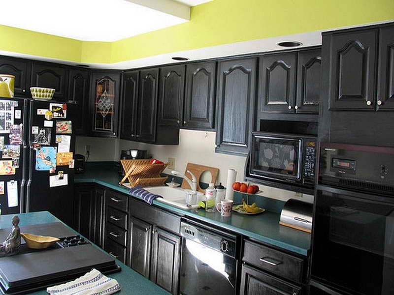 distressed kitchen cabinets in small size cakegirlkc within distressed black kitchen cabinets ideas